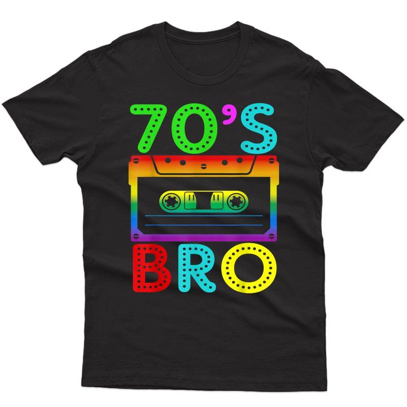 70's Bro T-shirt Gift For Halloween Family Matching Costume T-shirt