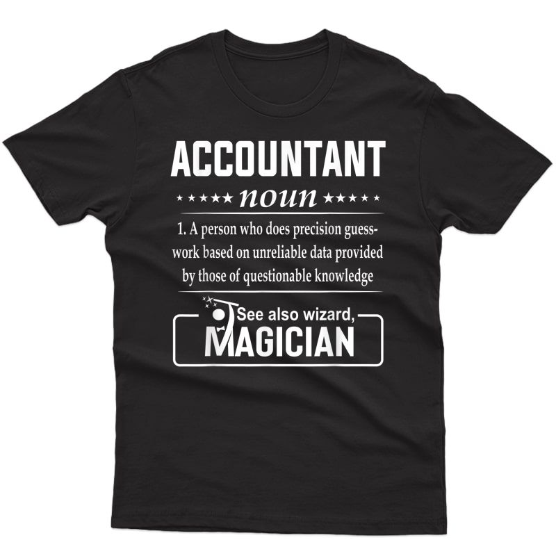 Accountant Definition Funny Gift Job Titles T-shirt