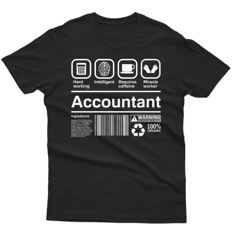 Accounting Shirt Funny Accountant Gift Bookkeeper T-shirt