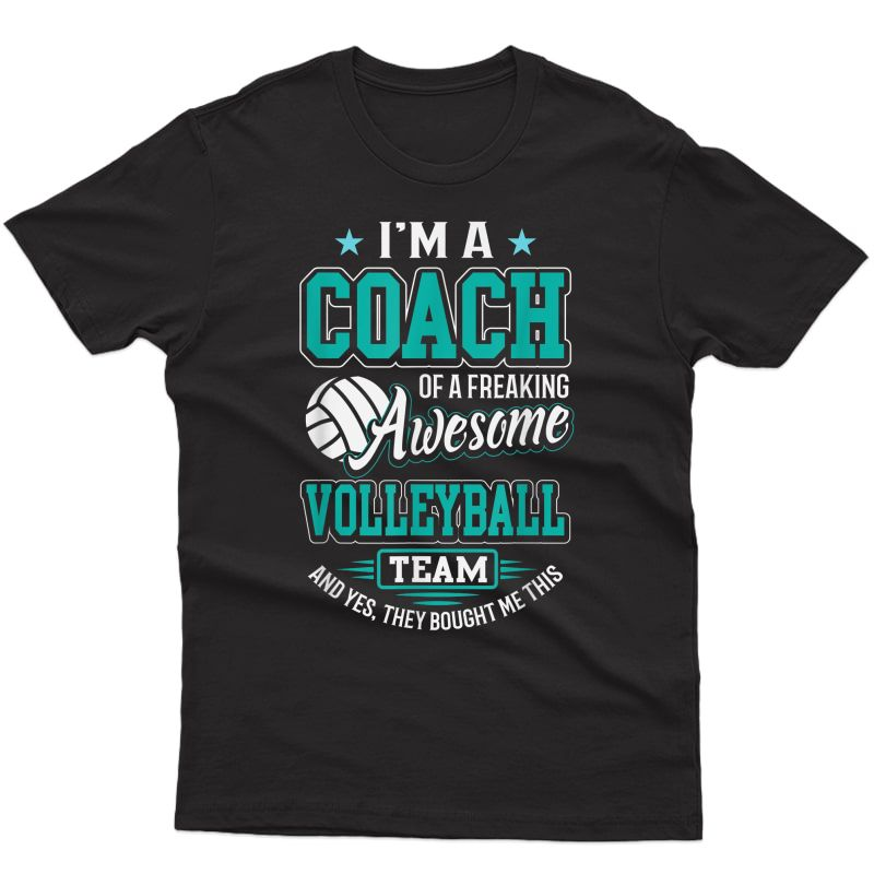 Awesome Volleyball Team Coach T-shirt Volleyball Coach Gift