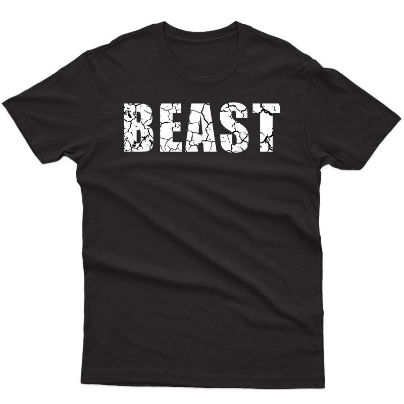 Beast Workout Gym Sport Mode Trendy Cool Looking T-shirt