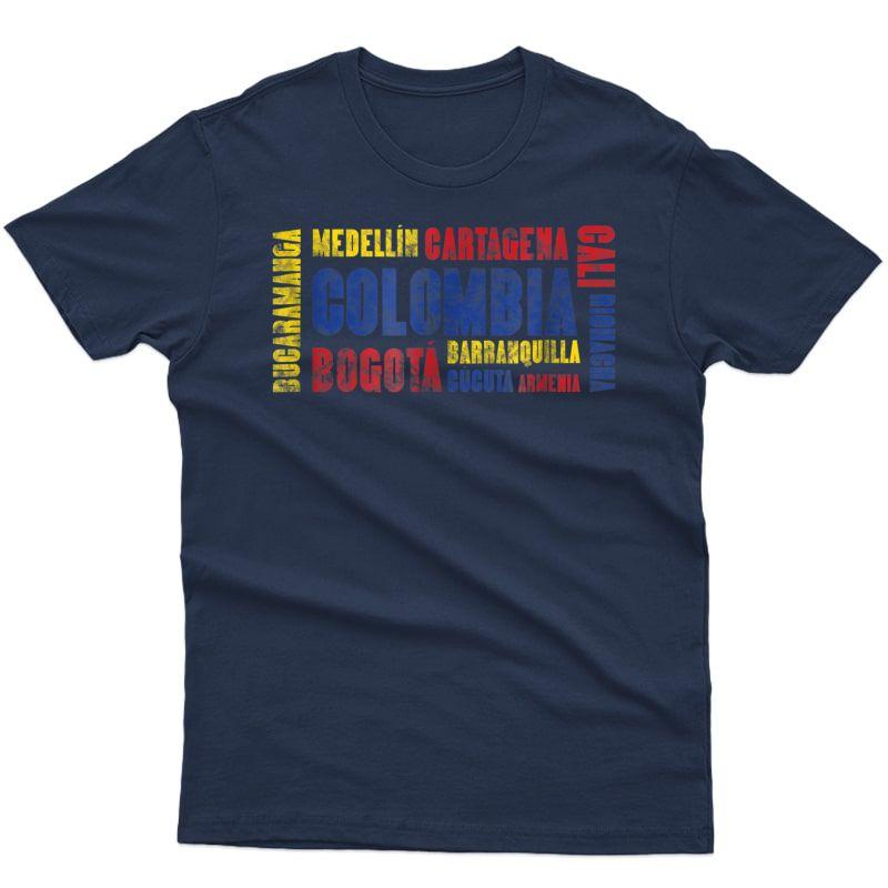 Colombia Football Cafetero Soccer Bogota Cali Medellin Flag Shirts