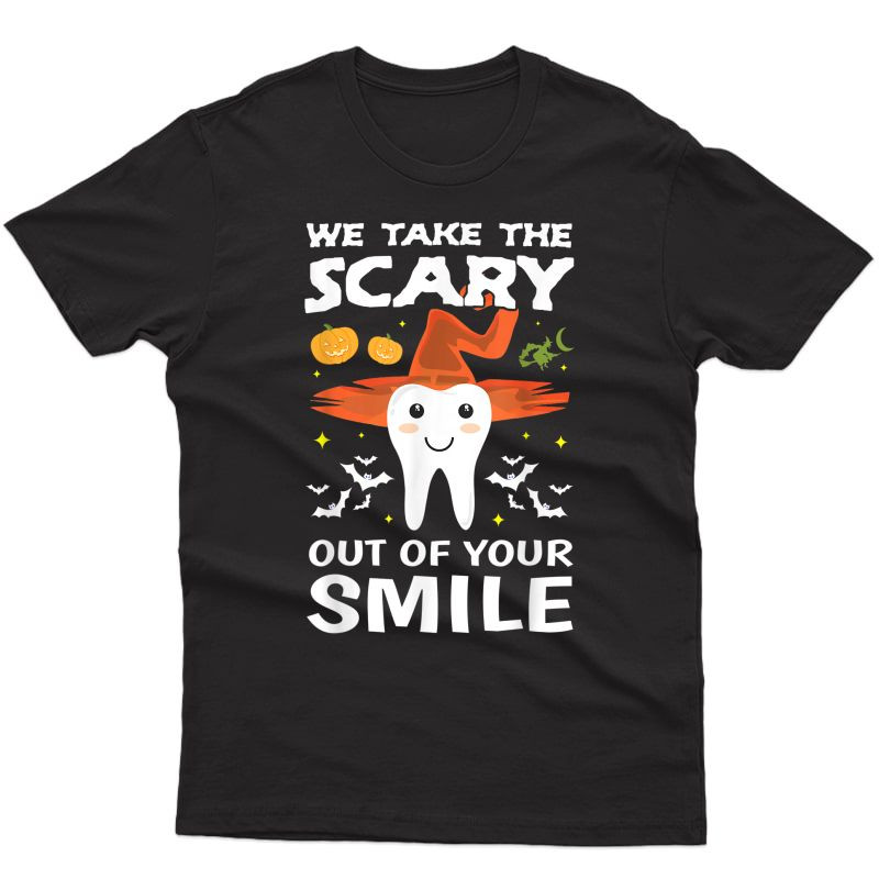 Cute Monster Tooth Dentist Halloween Out Gift T-shirt