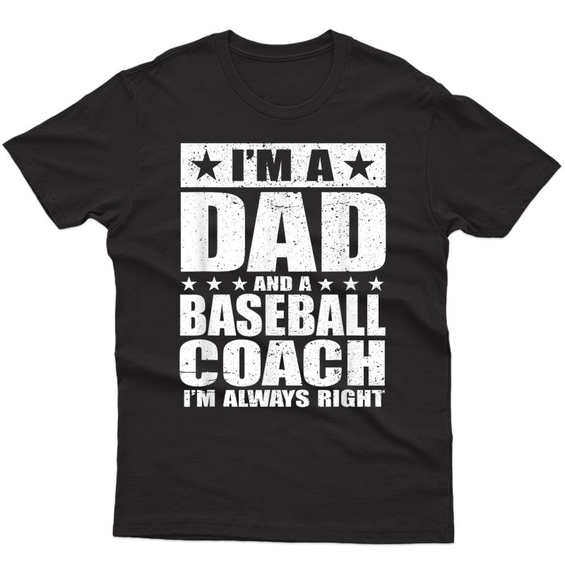 Dad Baseball Coach Fathers Day Shirts Gift From Daughter Son