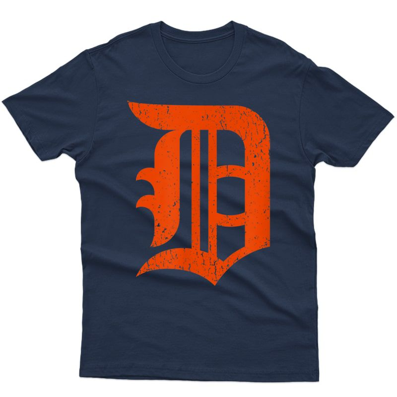 Detroit Baseball D   Vintage Michigan Bengal Tiger Retro T-shirt