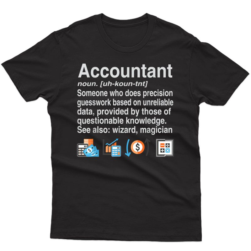 Dictionary Style Funny Accountant Definition T-shirt