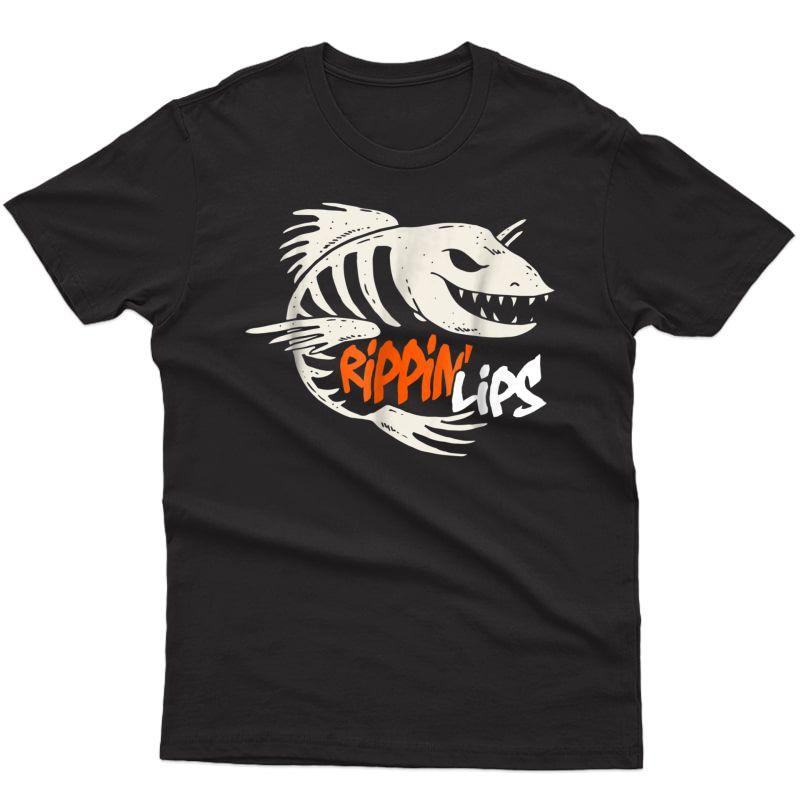 Fishing Rippin' Lips Fish Bones T Shirt