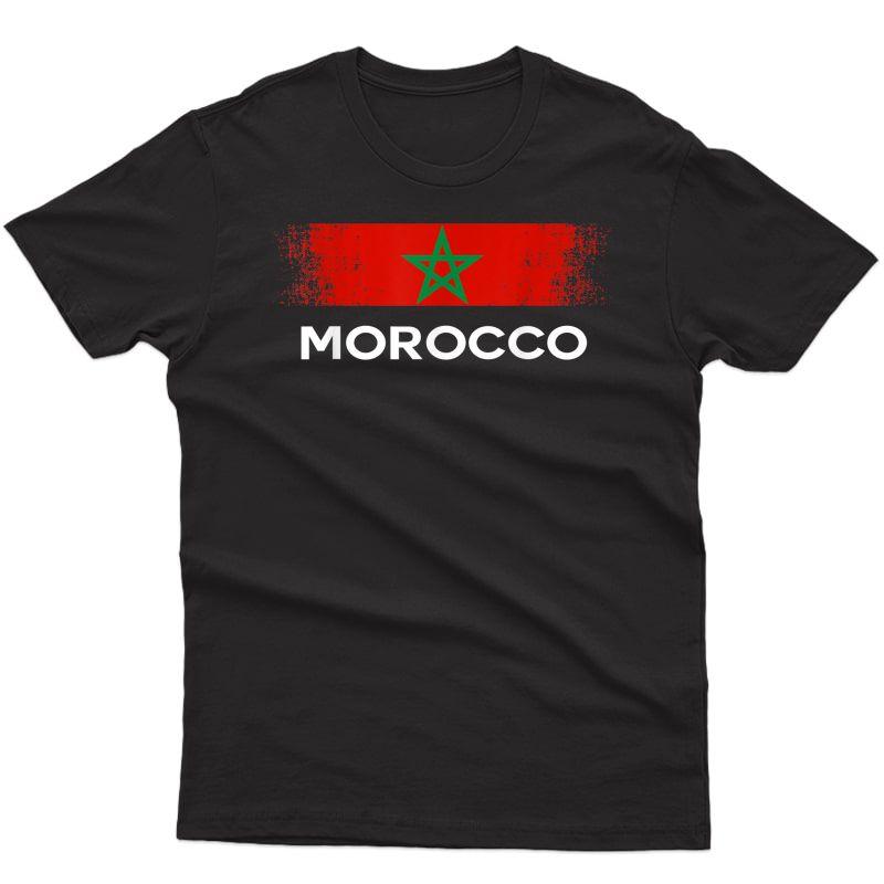 Flag Morocco T-shirt Moroccan Flags Gift Soccer Tee T-shirt