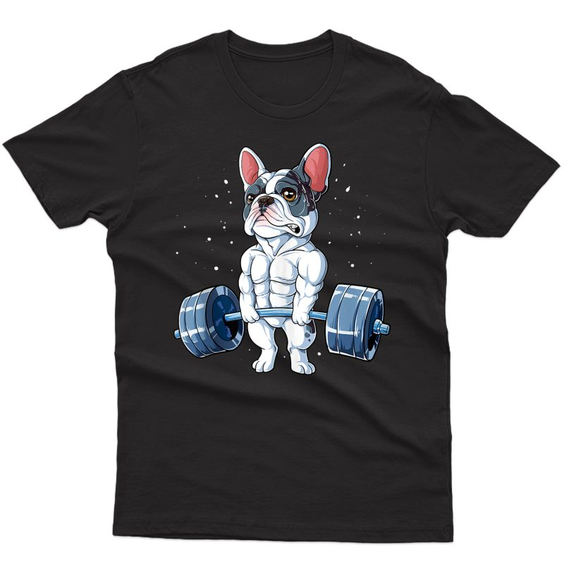 French Bulldog Weightlifting Funny Deadlift Ness Gym Tank Top Shirts