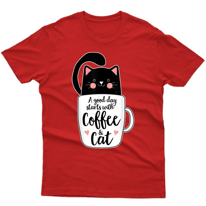 Funny Black Cat Coffee Mug Tshirt Cat Lover Gifts