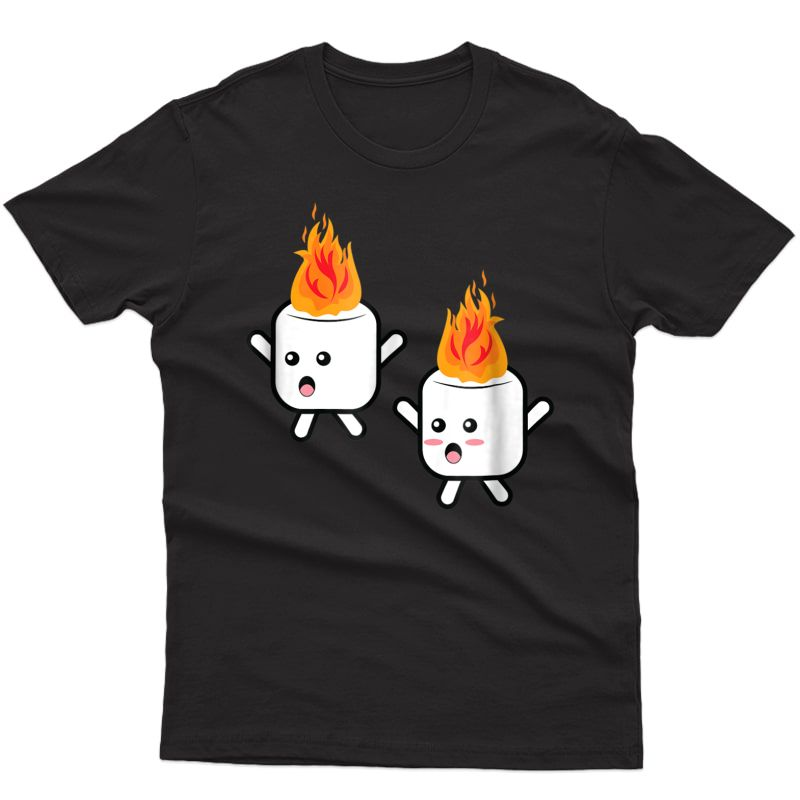Funny Camping Marshmallow Shirts Gift Summer Camp Funny