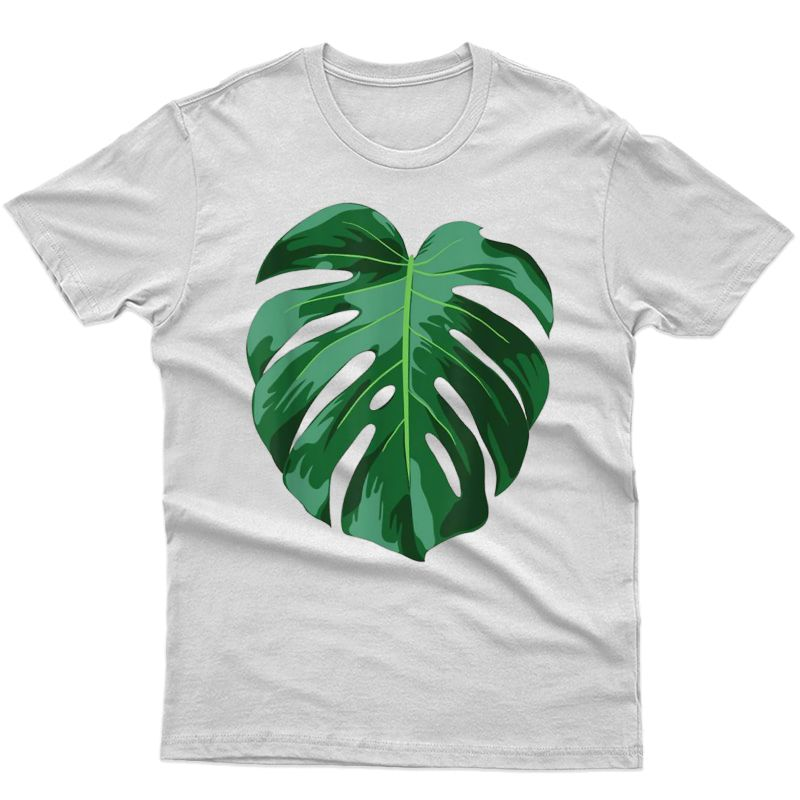 Funny Monstera Leaf Costume Indoor Plant Lover Gift T-shirt