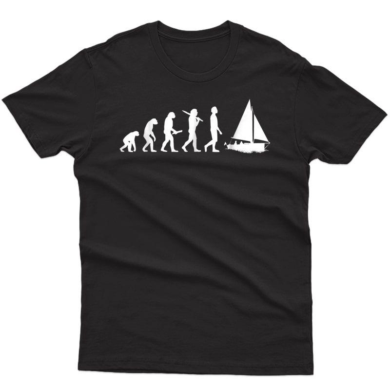 Funny Sailing Evolution T-shirt Gift For Sailors