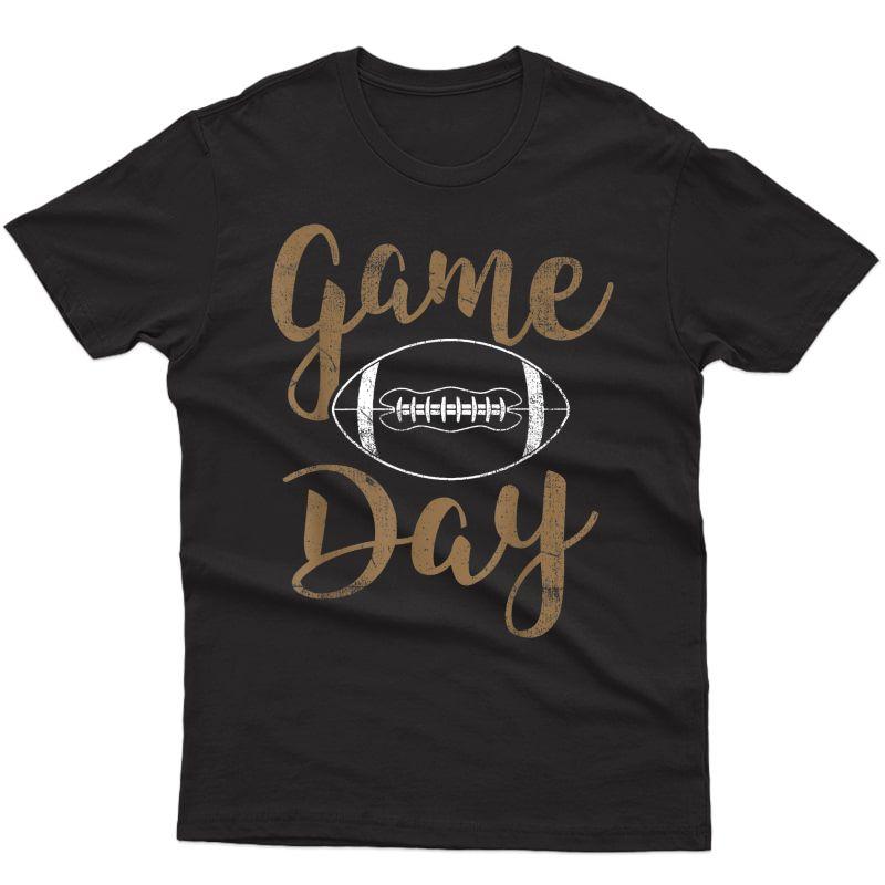 Game Day Football T-shirt Cute Football Top