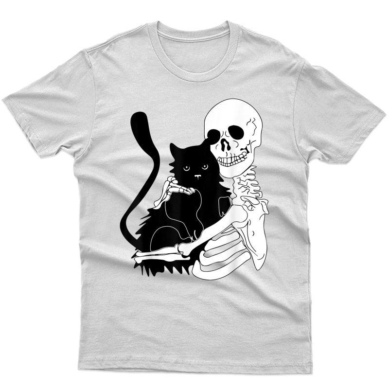 Halloween Cat Skeleton Funny Cat Gothic Grunge Pastel Goth T-shirt