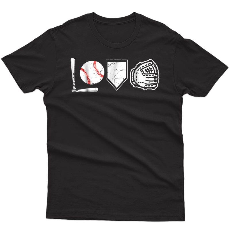 I Love Baseball T-shirt Baseball Heart