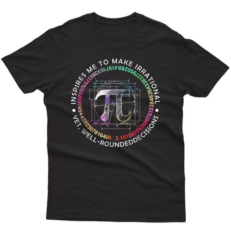 Inspire Pi 3.14 Math Tea Pi National Day T-shirt