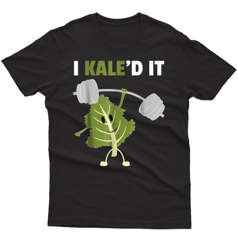 Kaled It T-shirt Vegan Vegetarian Kale Gym Ness Tee