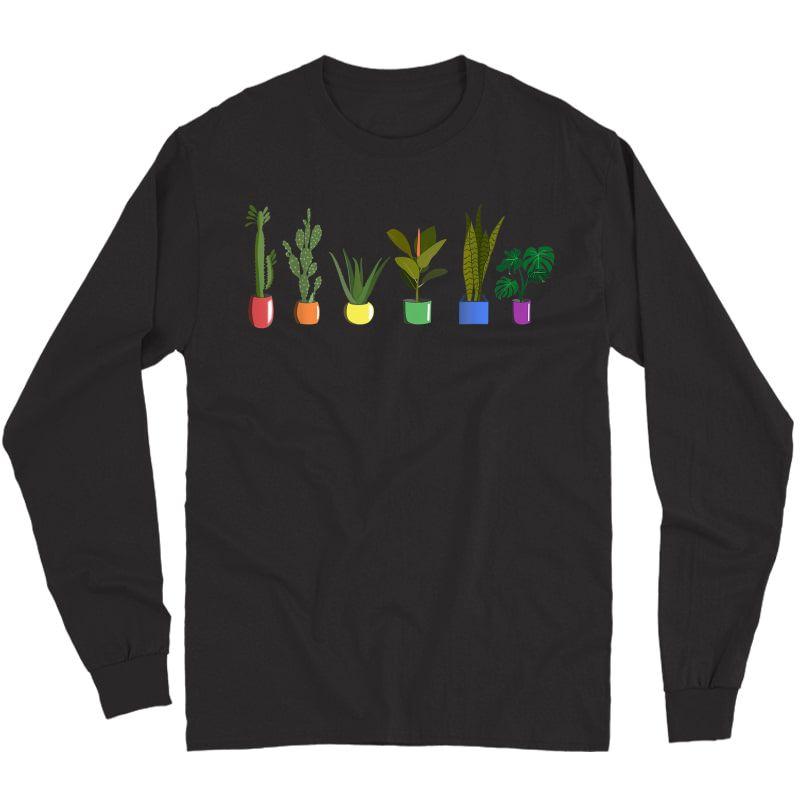 Lgbt Funny Plant Gardener Gardening Lgbt Gay Trans Pride T-shirt Long Sleeve T-shirt