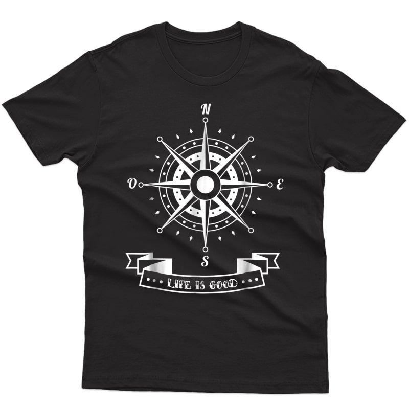 Shirt Compass Rose L Sailing T-shirt