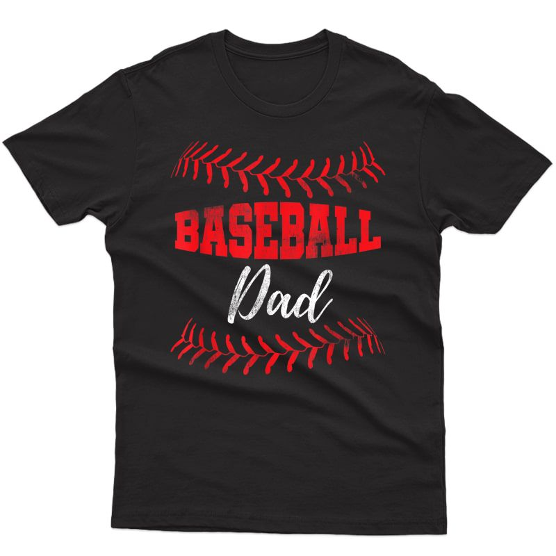 S Baseball Inspired Dad Fathers Day T-shirt