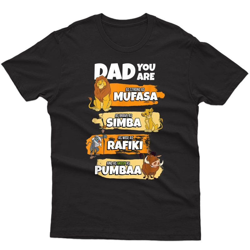 S Disney The Lion King Dad You Are Word Stack Funny T-shirt