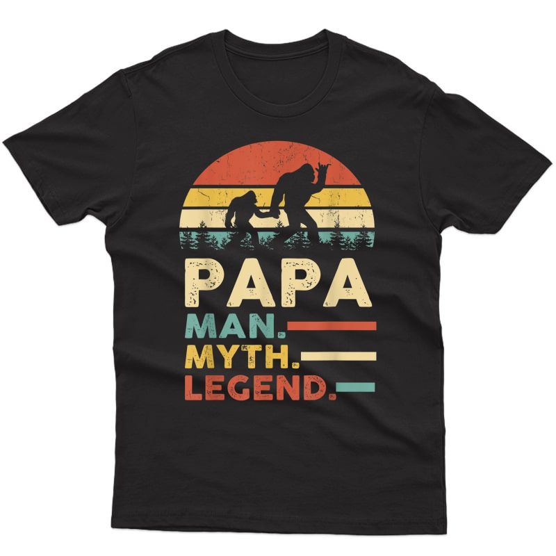 S Papa Man Myth Legend Sasquatch Sunset Father's Day T-shirt
