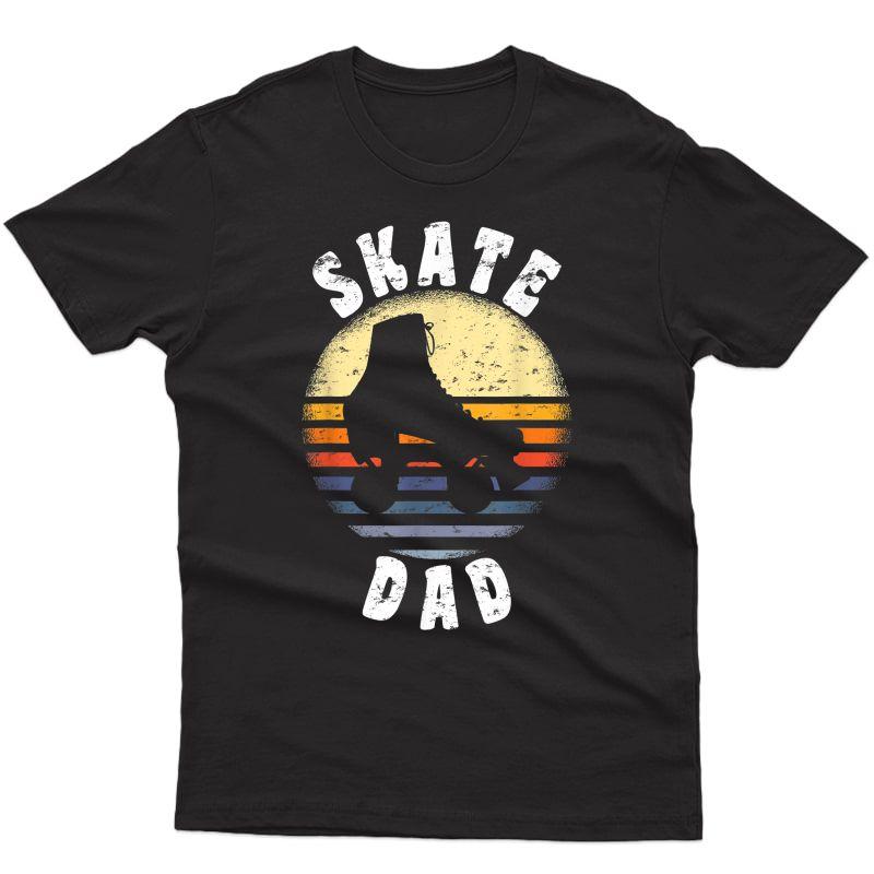 S Roller Skate Dad Shirt Vintage Rollerskate Father Gift T-shirt