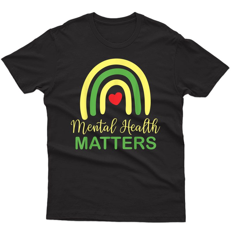 Tal Health Matters Rainbow Retro National Awareness Month T-shirt