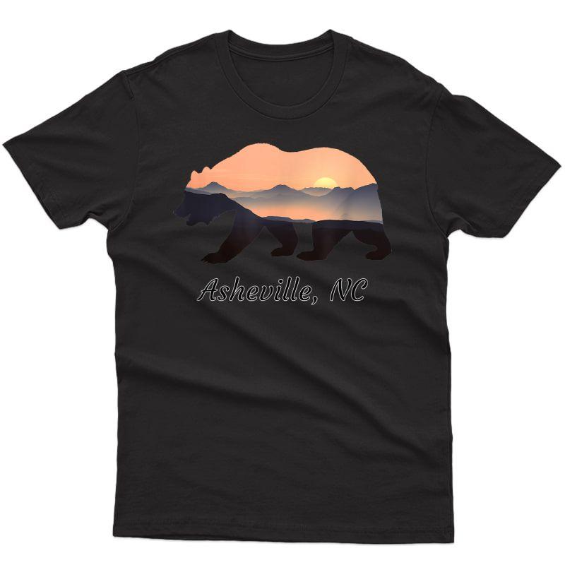 North Carolina Blue Ridge Mountains Bear Asheville Nc Gifts T-shirt