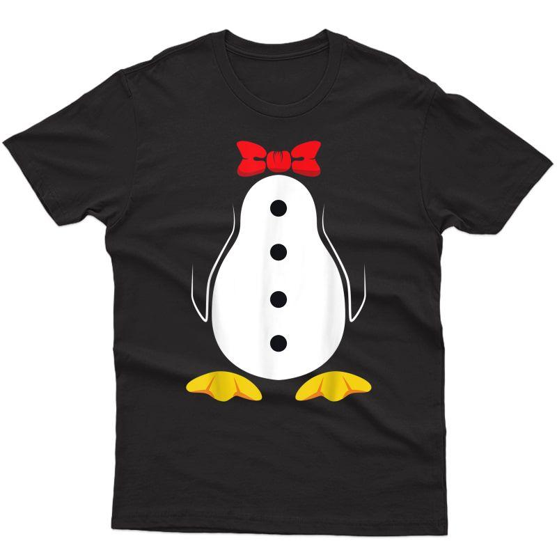 Penguin Costume Shirt Tuxedo Halloween Gift For Girls T-shirt