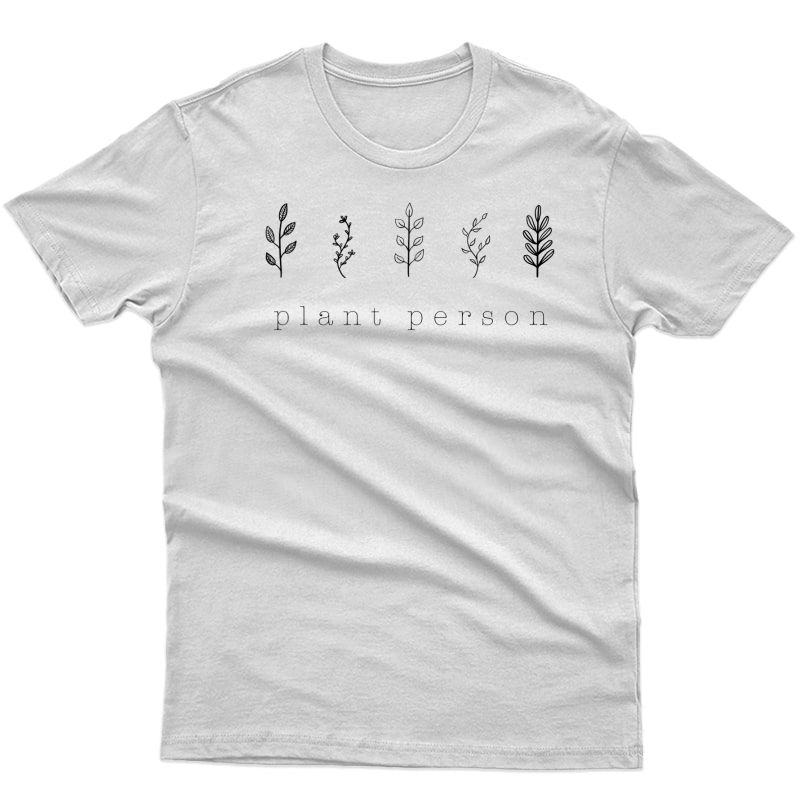 Plant Person Cute Graphic Tee Gardening Plants Flower T-shirt