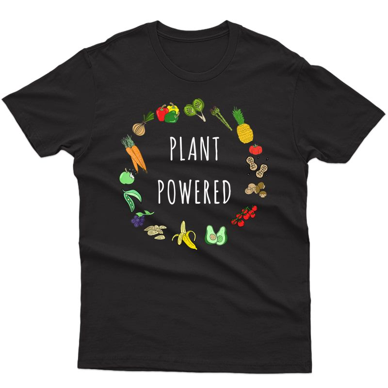 Plant Powered Vegan T-shirt Plant Based Vegetarian Tee