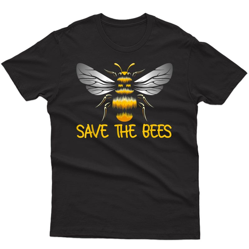 Plant These Save The Bees Bumblebee Climate Change Earth Day T-shirt