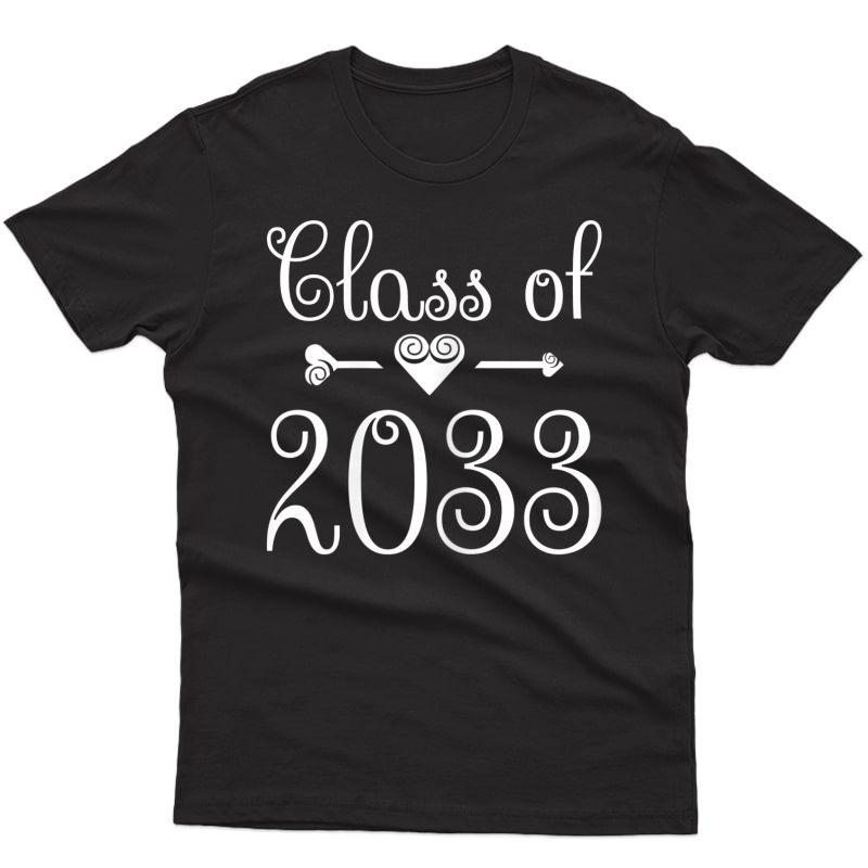 Pre-kindergarten Girls And Tea: Class Of 2033 Graduation T-shirt