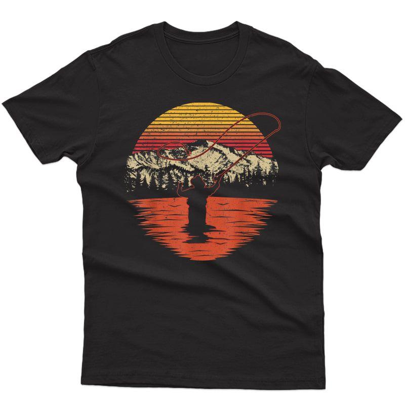 Retro Vintage Fly Fishing Shirt - Fly Fisherman T-shirt
