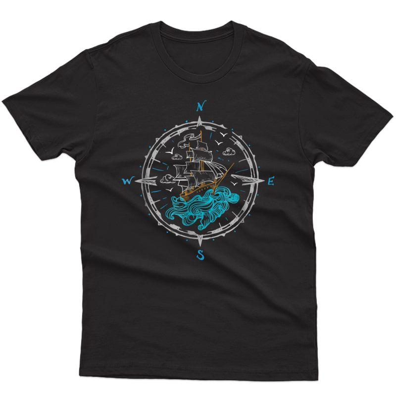 Sailing Boat Ship Compass Rose L T-shirt