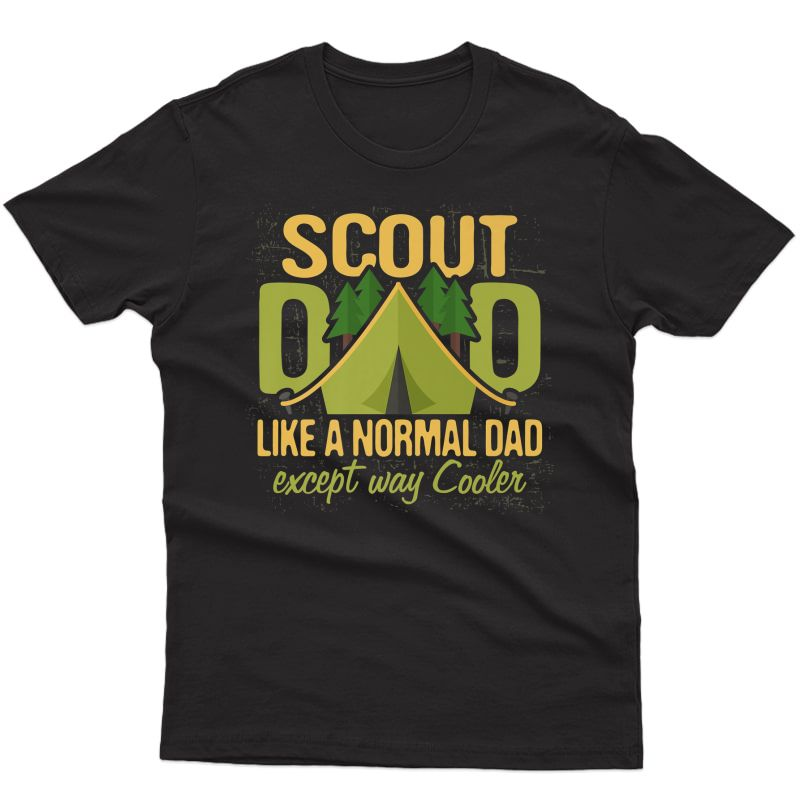 Scout Dad T Shirt Cub Leader Boy Camping Scouting Gift