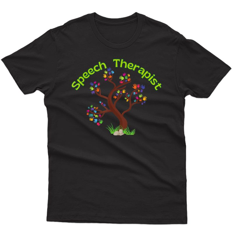 Speech Therapist Therapy Special Needs Hands Tree T-shirt