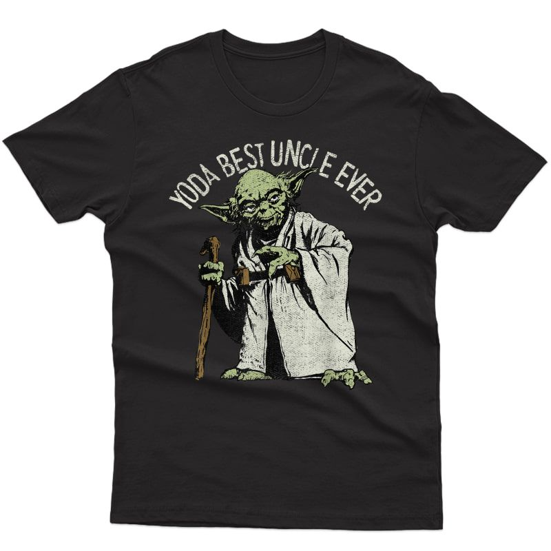 Star Wars Yoda Best Uncle Ever Portrait T-shirt
