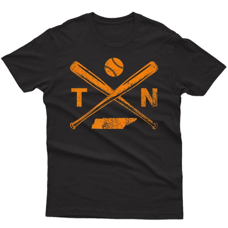 Tennessee Baseball Bats & Ball Classic Baseball Player T-shirt