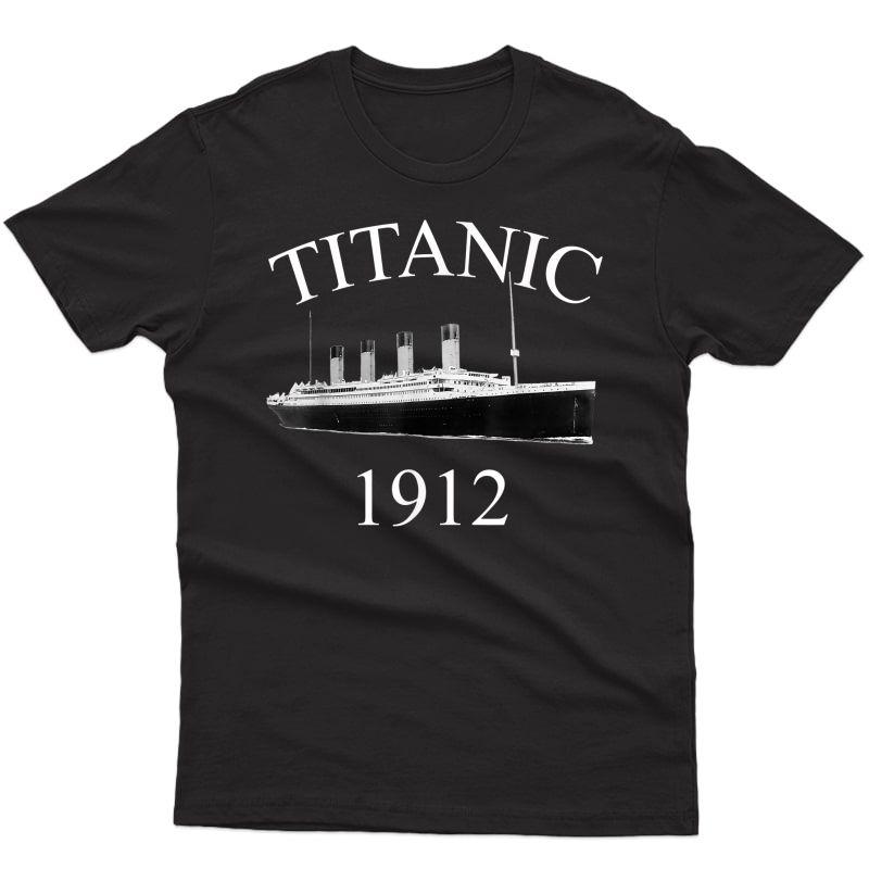 Titanic Sailing Ship Vintage Cruise Vessel 1912 T-shirt
