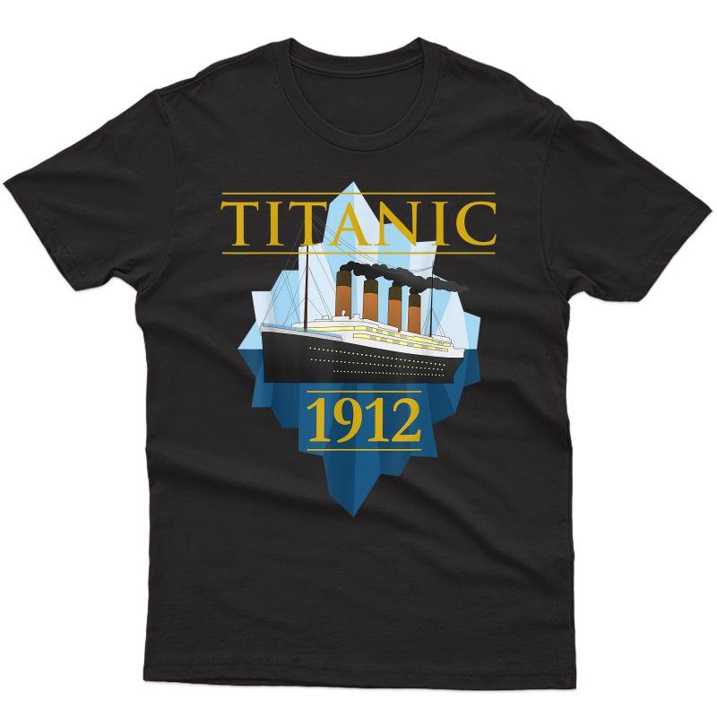 Titanic Tshirt Sailing Ship Vintage Cruisvessel 1912 Tee T-shirt