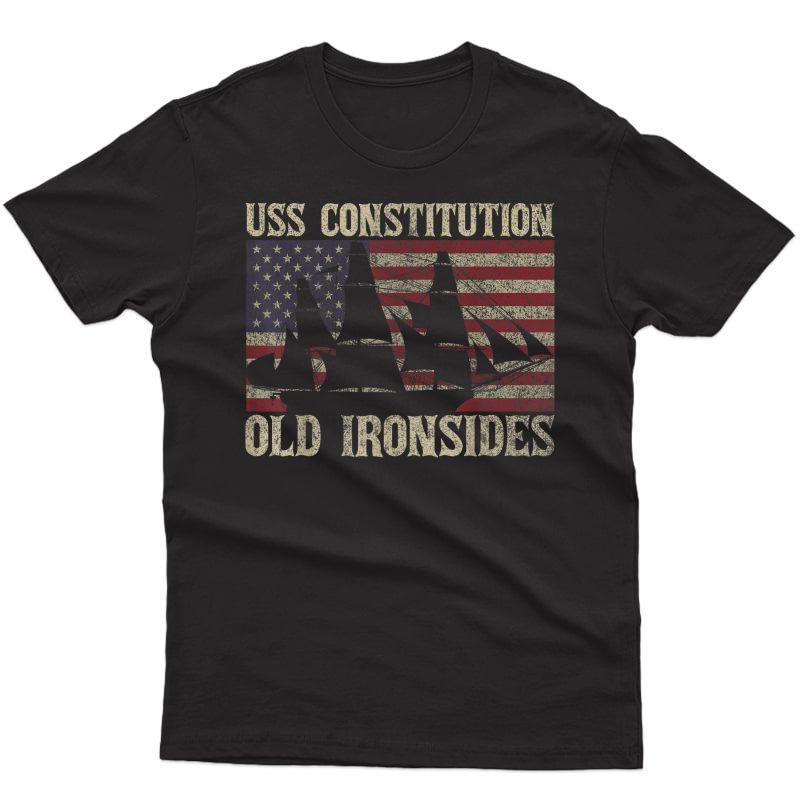 Uss Constitution Sailing Ship Usa American T-shirt