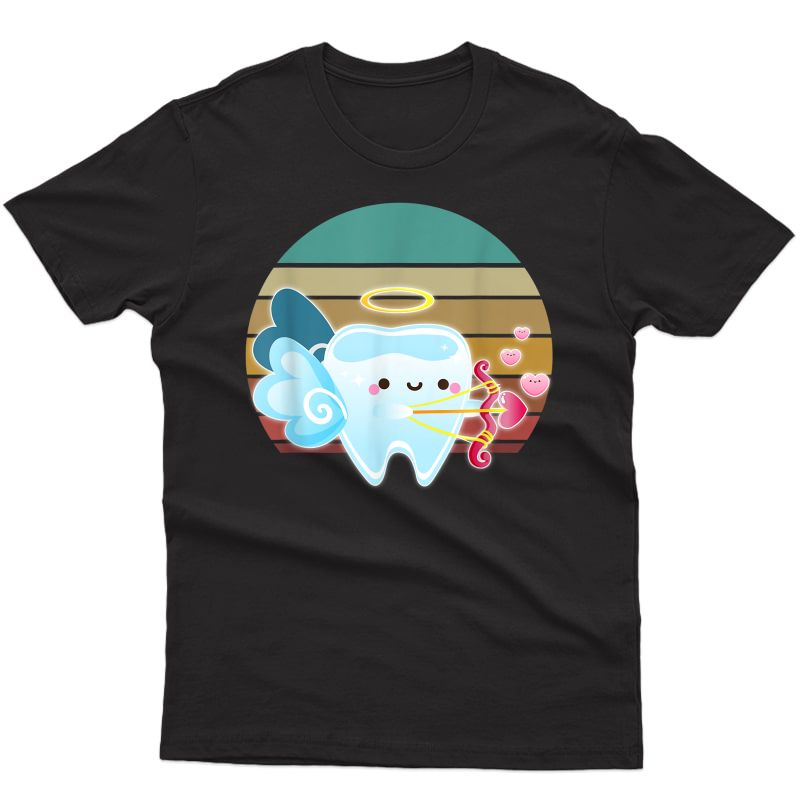 Valentine Shirts For Dentist Dental Gifts Cupid Tooth T-shirt