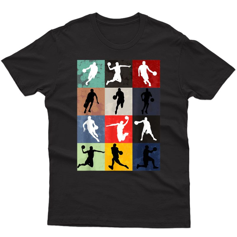 Vintage Basketball For Best Cool Coach And Sports Lovers T-shirt