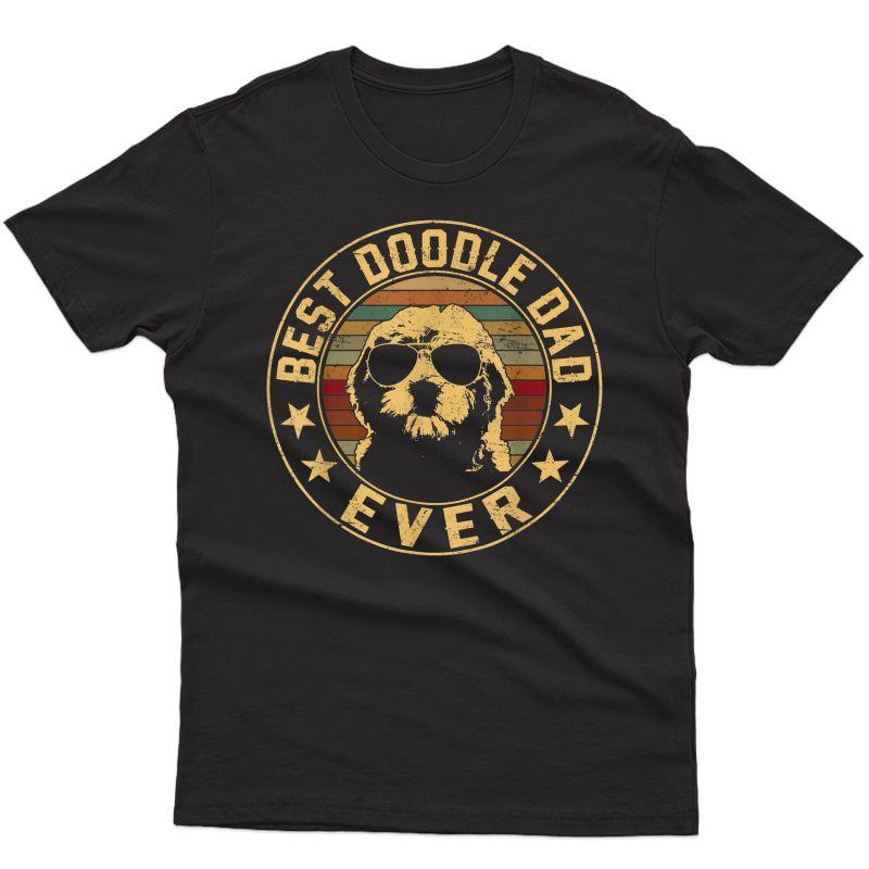 Vintage Goldendoodle Dad T-shirt - Best Doodle Dad Ever Gift T-shirt