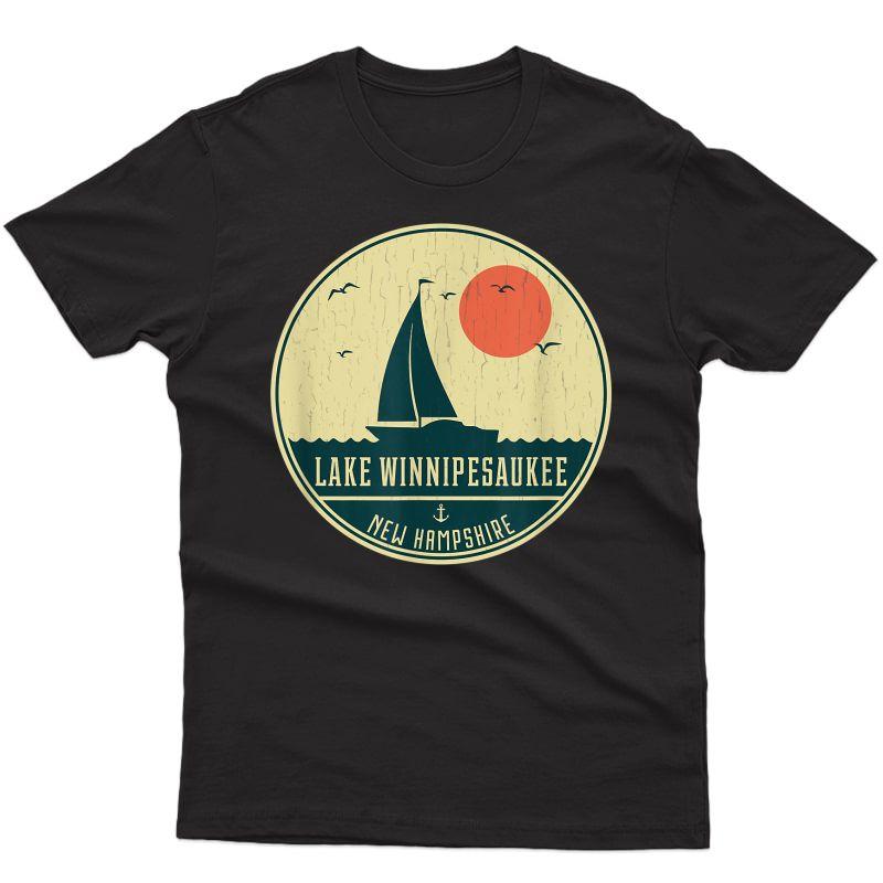 Vintage Lake Winnipesaukee New Hampshire Sailing T-shirt