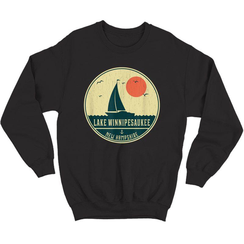 Vintage Lake Winnipesaukee New Hampshire Sailing T-shirt Crewneck Sweater