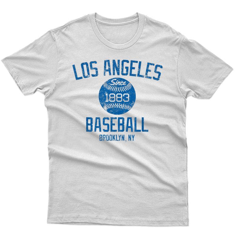 Vintage Los Angeles Baseball Brooklyn 1883 Classic Fan Tee T-shirt